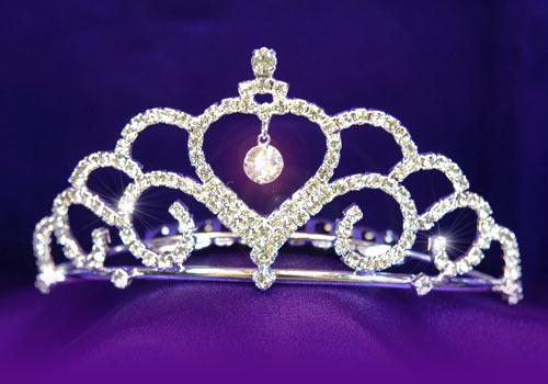 bb954631eb Επάργυρη Πανέμορφη Τιάρα για Νύφη ή Παρανυφάκι με Διάφανα Κρύσταλλα