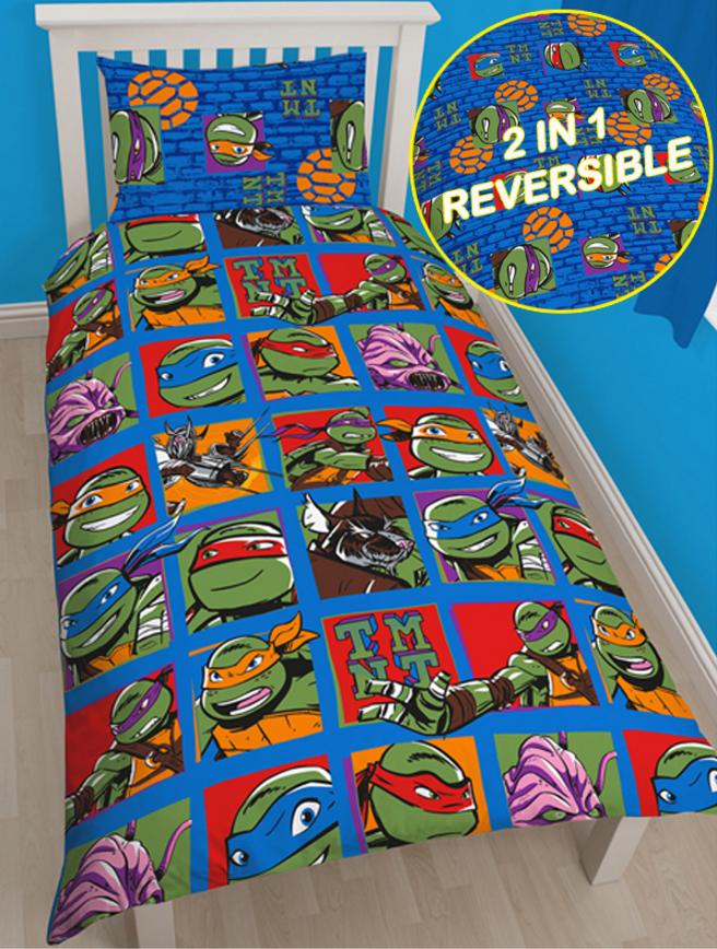 cde0a04bb00 Παιδικές Παπλωματοθήκες - Παιδική Παπλωματοθήκη Teenage Mutant Ninja  Turtles - Χελωνονιντζάκια - Μονή Σετ