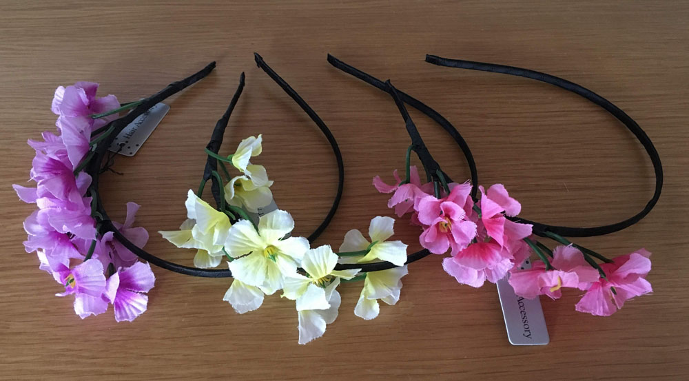 a4e433e2cf8 Παιδική Σατέν Στέκα Μαλλιών με Λουλούδια σε Ροζ, Λιλά, ή Λεμονί για Πάρτυ -  ...