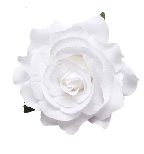 White hair flower broach clip polyantha mightylinksfo