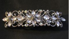 Crystal Flower Barrette