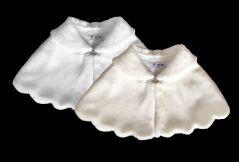Girl's Faux Fur Bolero, Shrug, Cape in WHITE or IVORY