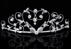 Bridal Wedding Prom Heart Rhinestone Crystal Tiara