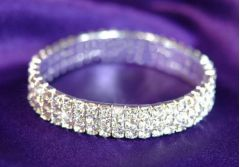 Crystal Bracelet with 3 Rows of Sparkly Austrian Crystal