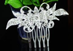 "Bridal Wedding Crystal Rhinestone Hair Comb ""Tabatha"""