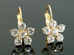 """Beautiful Gold Plated Flower Earrings """"Helen"""""""
