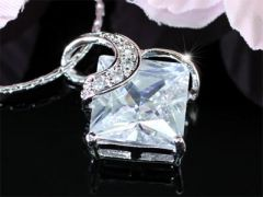 "3.5 Carat Princess Cut CZ Simulated Diamond Pendant Necklace ""Lotti"""