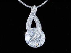 """3 Carat Round Cut CZ Simulated Diamond Pendant Necklace """"Calista"""""""