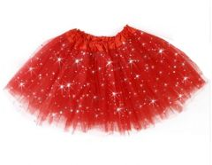 "Girls Pettiskirt Princess Tutu Skirt Party Ballet Dance Skirt in RED ""Hazel"""