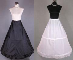 "2 Hoop Underskirt - Petticoat - Crinoline in Black or White ""Carla"""