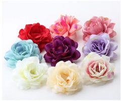 "Pretty Fabric Hair Flower Clip in Ivory, Red, Lilac, Pink, many colours for Bride, Bridesmaid, ""Lexy"""