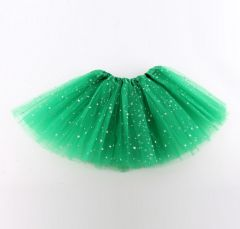 "Girls Pettiskirt Princess Tutu Skirt Party Ballet Dance Skirt in GREEN ""Hazel"""