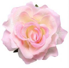 """Soft Pink Rose Hair Flower, Broach, Clip """"Polyantha"""""""