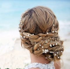 "Bridal Wedding Gold or Silver Plated and Pearl Vine Wrap Hair Comb ""Ivoni"""