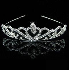 "Silver Tiara for Girl Child Silver Crystal Tiara  ""Isabella"""