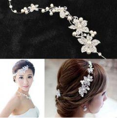 """Crystal Pearl Headpiece for Bride, Bridesmaid """"Natasha"""""""