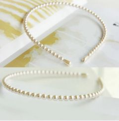 "Faux Pearl Headband for Bride, Bridesmaid or Every Day ""Lassi"""