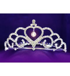 Silver Plated Clear Crystal Bridal Tiara