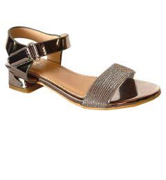 """Elegant Girls DARK SILVER Strap Dress Shoes, Sandles 25-35 """"Dolce"""""""