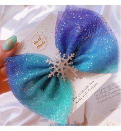 Disney Frozen Blue Hair Bow