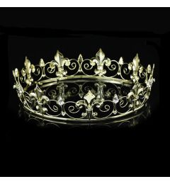 "Men's Medieval Crown, Gold Plated ""Paris"""
