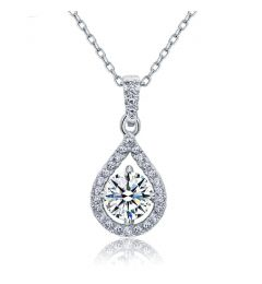 "Bridal Necklace 1 Carat Simulated Diamond ""Katrina"""