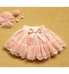 "Gorgeous Party, Wedding Tutu Skirt in Peach ""Cherub"""