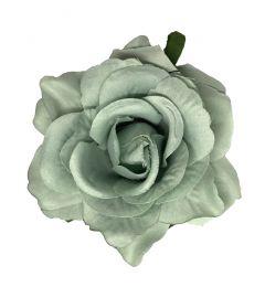 "Powder Blue Hair Flower, Broach, Clip ""Polyantha"""