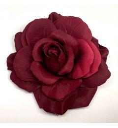 """Wine Red Hair Flower, Broach, Clip """"Polyantha"""""""