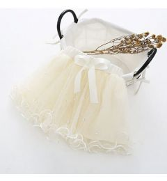 "Girls Party, Wedding Tutu Pettiskirt in Ivory, Beige ""Sammy"""
