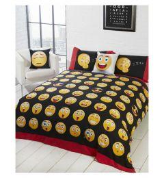Emoji Single Reversible Duvet Cover and Pillowcase Set
