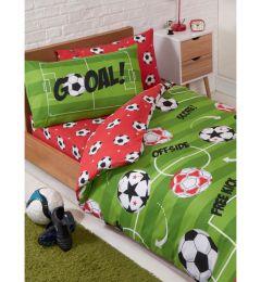 Football Theme Single Duvet Cover And Pillowcase Set