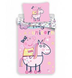 Peppa Pig Unicorn Single Duvet Cover Set