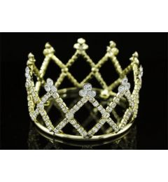 Gold Plated Mini Crown for Christening, Wedding