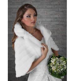 Σάλι, Ζακέτα, Κάπα Για Νύφη, Γαμο από Συνθετική Γούνα σε Χρώμα Λευκό, Ιβουάρ - Κρεμ ή Μαυρο