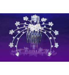 "Bridal Wedding Butterfly Crystal Rhinestone Hair Comb ""Francesca"""