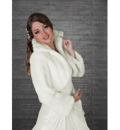 Faux Fur Bridal Cape, Bolero in White or Ivory