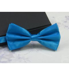 "Older Boys, Mens Light Blue Satin Bow Tie ""Henry"""