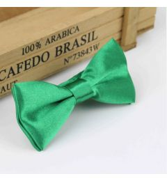 "Boys Green Satin Bow Tie ""Dimi"""