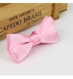 "Boys Pink Satin Bow Tie ""Dimi"""