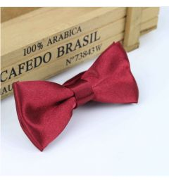 "Boys Wine Red, Burgundy Satin Bow Tie ""Dimi"""