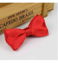"Boys Red Satin Bow Tie ""Dimi"""