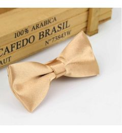 "Boys Gold Satin Bow Tie ""Dimi"""