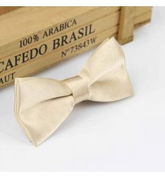 "Boys Champagne, Light Beige Satin Bow Tie ""Dimi"""