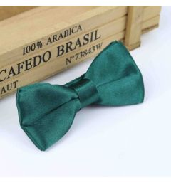 "Boys Dark Green Satin Bow Tie ""Dimi"""