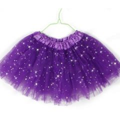 "Girls Pettiskirt Princess Tutu Skirt Party Ballet Dance Skirt in PURPLE ""Hazel"""