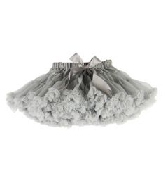 "Gorgeous Party, Wedding Tutu Pettiskirt in GREY ""Jodie"""