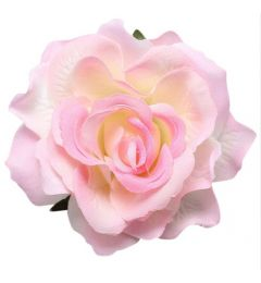 "Soft Pink Rose Hair Flower, Broach, Clip ""Polyantha"""