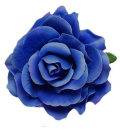 "Blue Rose Hair Flower, Broach, Clip ""Polyantha"""