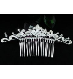 "Elegant Bridal Wedding Crystal Hair Comb Slide  ""Betsy"""